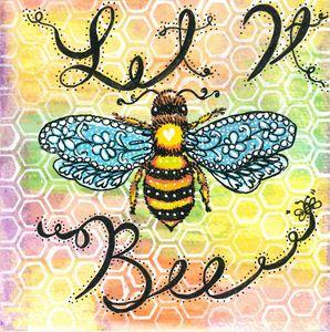 Let It Bee Watercolor
