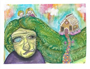 Hansel & Gretel Mixed Media