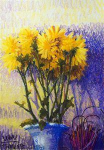 Chrysanthemum on altar