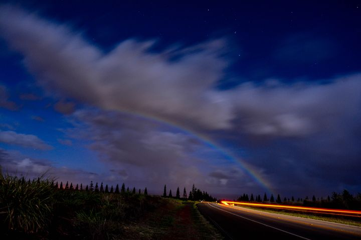 Midnight Moonbow - Sam Wood Photograph-@natures_perspective