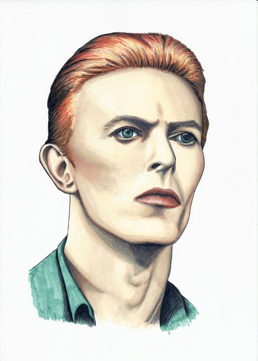 David Bowie Thin White Duke - Paula's Art