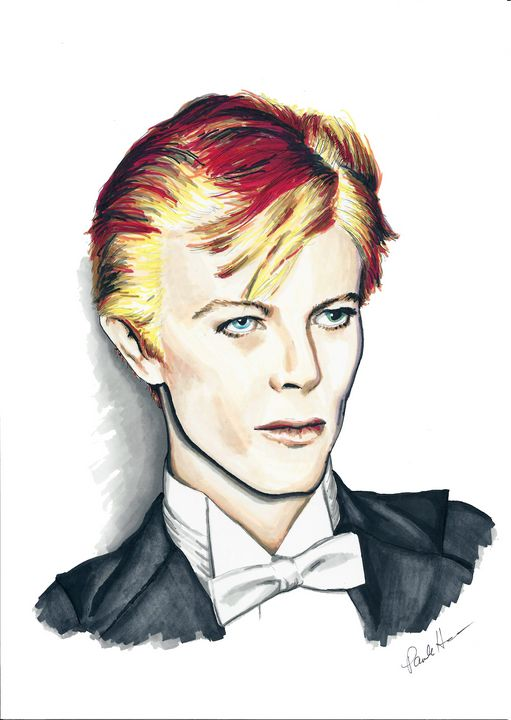 David Bowie 1970s - Paula's Art