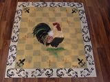 French Country Rooster Painted RUG