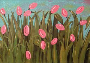 Spring Tulips in the Garden of Eden