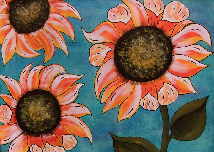 Sunflowers in the Garden of Eden - Micklos Art By Design The Moon ART