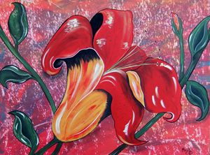 Sunset Lily in the Garden of Eden