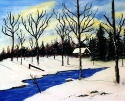 Winter Cabin - David Montgomery