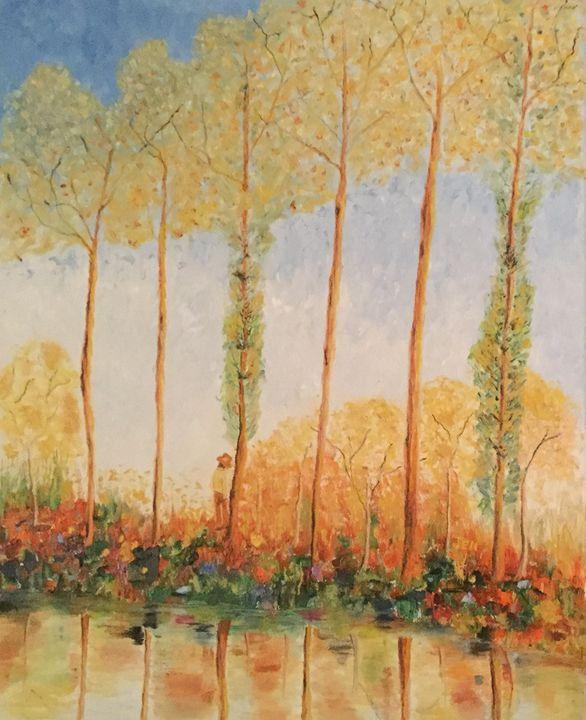 Poplars on the Epte River - ArtbyJen