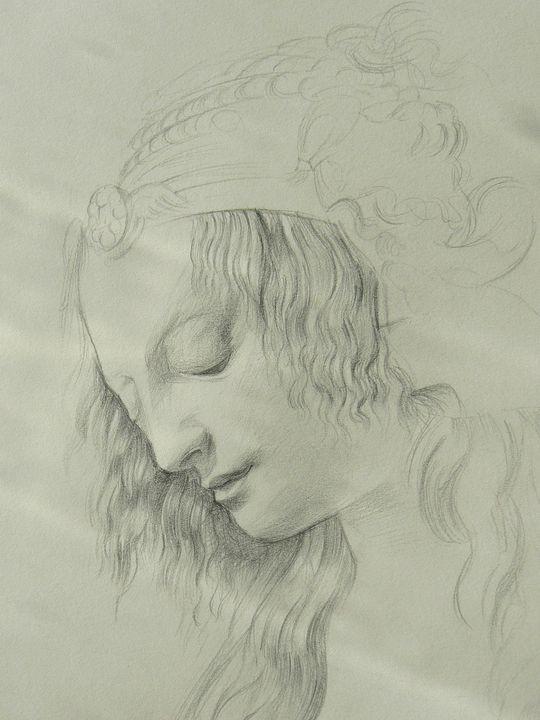 Portrait after Da Vinci - Heidi's Gallery