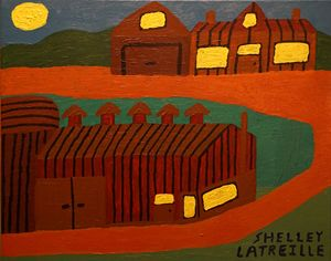 Abstract Amish Farm - Returns Your Gaze Art