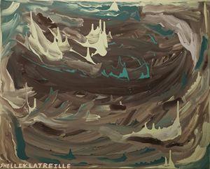 Tumultuous Ocean Storm