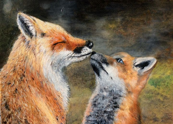 Fox mom and cub - Hannah Hsu
