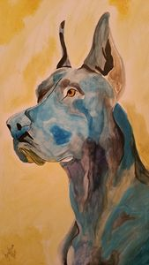 Blue Great-Dane