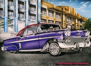 Old School Cruise - Mark Vasquez Illustrations Gallery