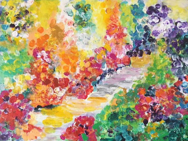 Garden of Flowers - Carols Colorful Art