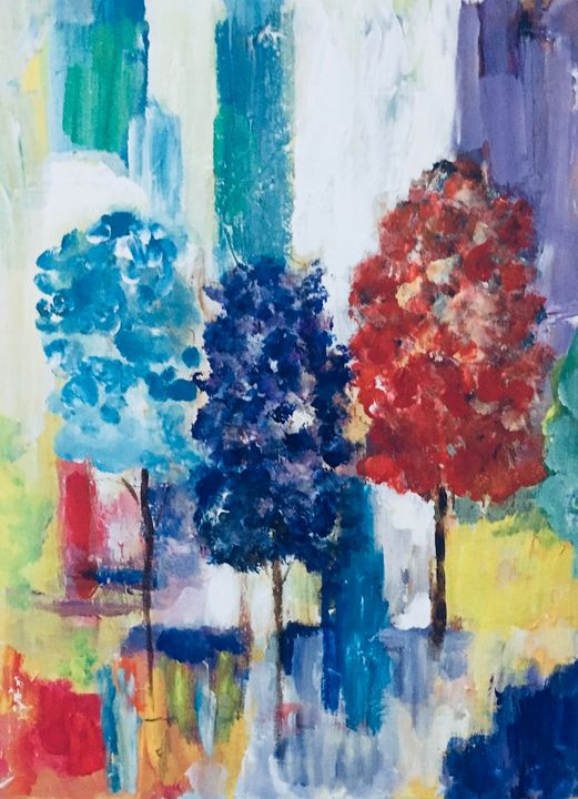 Three Trees - Carols Colorful Art