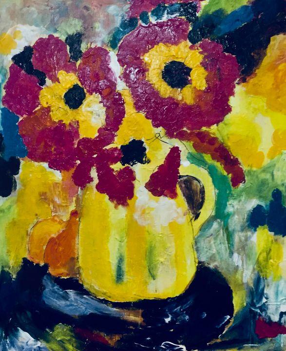 Happy Flowers - Carols Colorful Art