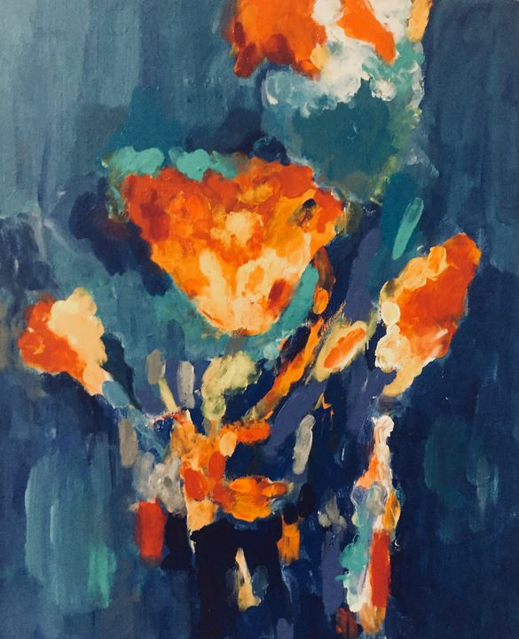 Vase of Flowers - Carols Colorful Art