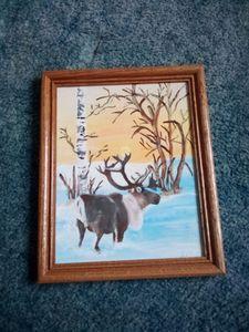 Reindeer Painting