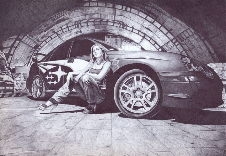 Subaru in the tunnel - Oleg Kozelsky