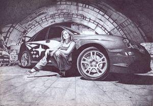 Subaru in the tunnel