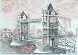 Tower Bridge drawing ballpoint pens