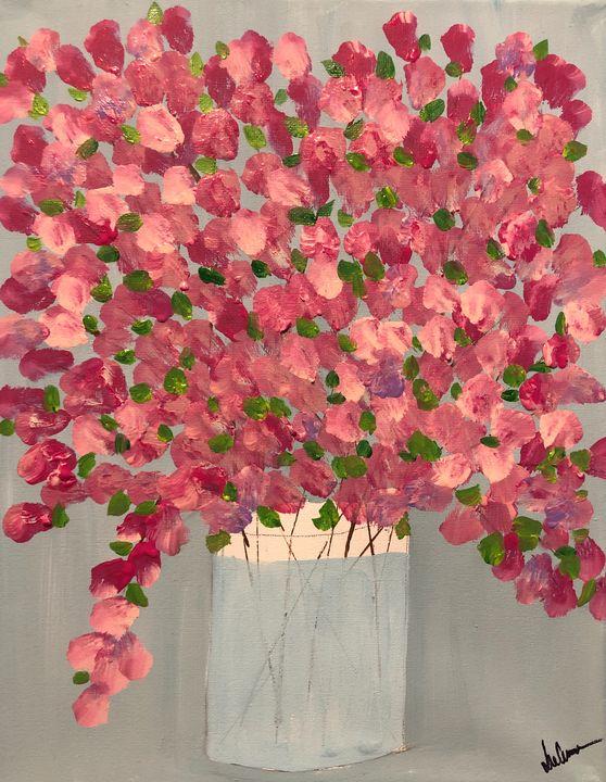 Pink Forsythias - Paint the Sky