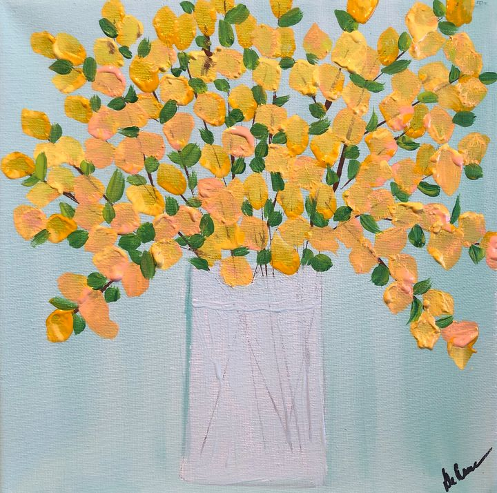 Yellow Forsythias - Paint the Sky