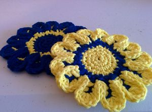 Summer Flowery Coasters Set of 4