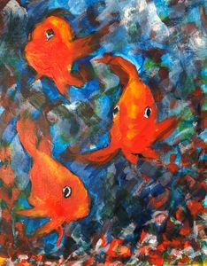 Three Parrot Fish