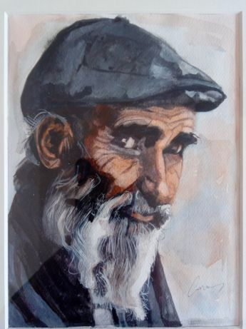 The old man - Carmen's paintings