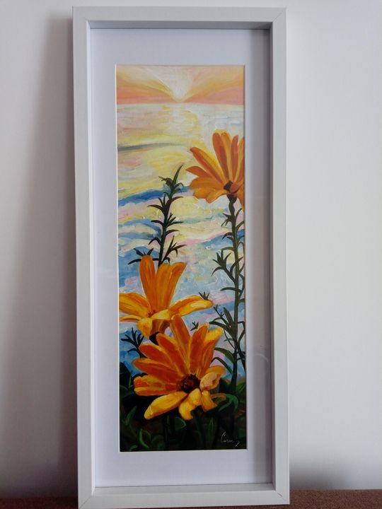 Lilies in the sunset - Carmen's paintings
