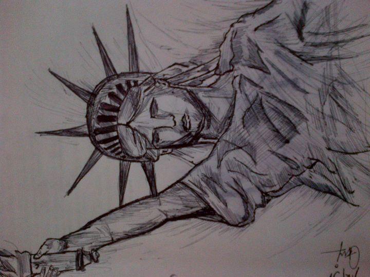 statue of liberty..!! - sammy Art...