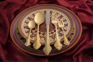 Gold utensils