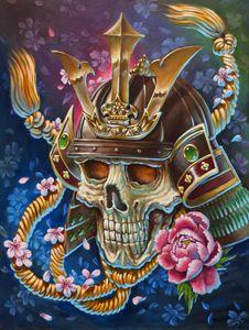 Samurai skull fantasy