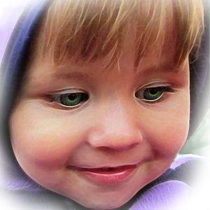 Baby green eyes