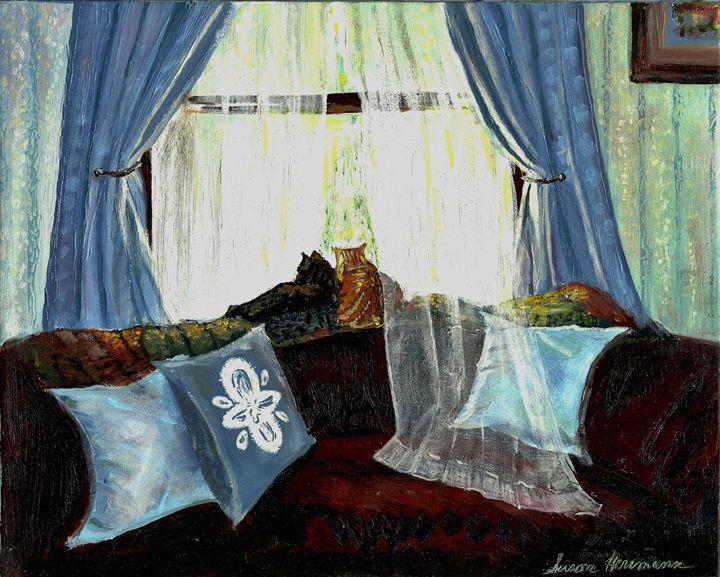 A NAP IN THE SUN by S L Herrmann - LEE ART GALLERY