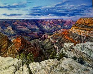 SOUTH RIM IN THE LIGHT S L Herrmann