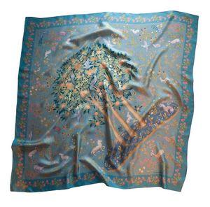Garden of Eden scarf blue