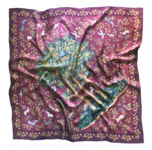 Silk scarf Wine Garden of Eden