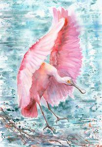 Pink wings big