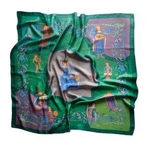 Art silk scarf Music