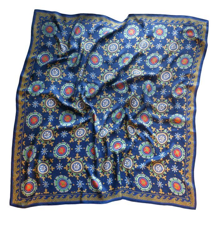 Art Silk Scarf Mosaic ornament - Unicornarte
