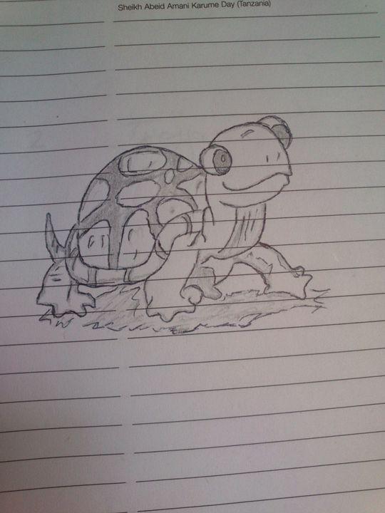 Hand Drawing Tortoise - MK HandDrawing