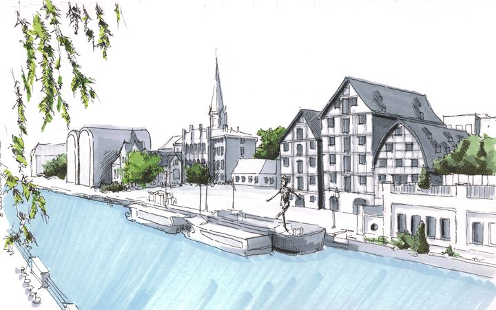 Poland, Bydgoszcz - Drawings From Travel