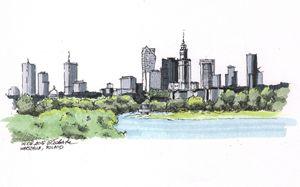 Poland, Warsaw panoram