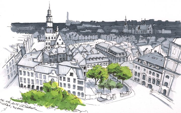 Poland, Poznan - Drawings From Travel