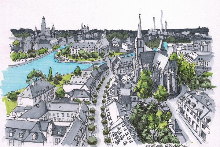Poland, Wroclaw downtown - Drawings From Travel