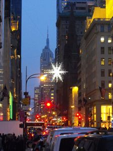 Empire state at Christmas