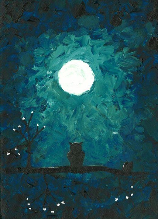 Lonely Owl Turquoise - DeetsLongArt